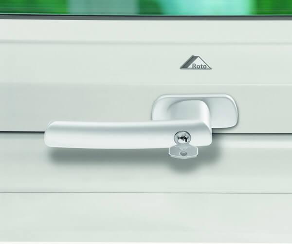 Roto Abschliessbarer Griff weiß für R6/R8 aus Kunststoff
