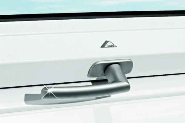 Roto Designo Standardgriff silber für R6/R8 aus Kunststoff