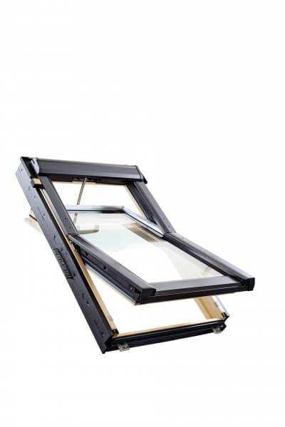 Elektrisches Schwingfenster Roto QT4 aus Holz